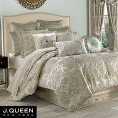 Romance Spa Fleur de Lis Comforter Bedding by J Queen New York