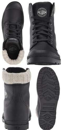 cd3b9e7504b Palladium Boots Womens Women's Pampa Hi Knit LP Chukka Boot black