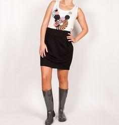 Falda negra nümph elástica