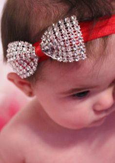 Diamond Bow Headband on etsy!