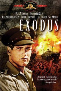Exodus: The theme is the founding of the state of Israel. The action begins on a ship filled with Jewish immigrants bound for Israel who are being off loaded on Cyprus. An Intelligence officer succeeds in getting them back on board their ship only to have the harbor blocked by the British with whom they must negotiate. The second part of the film is about the situation in Israel as independence is declared and most of their neighbors attack them.