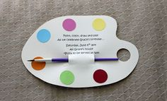 Art Party idea...this could be the next birthday theme, how fun!  found this on whilewearingheels.blogspot.com