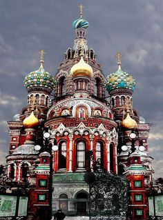 The Church of the Resurrection in Saint Petersburg, Russia.
