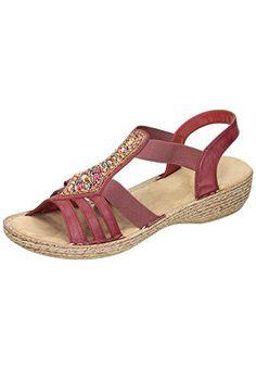 Rieker Women's 65841 Wedge Heels Sandals, Red (Wine / 35), 5 UK