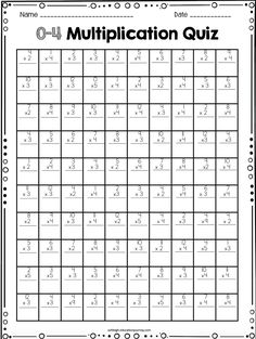 FREE 100 question multiplication timed test-applies the commutative property!