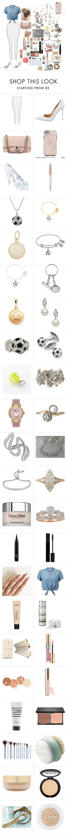 """""""CITY                                                                                         """" by fashion-dora15 ❤ liked on Polyvore featuring Topshop, Gianvito Rossi, Chanel, Swarovski, Jewel Exclusive, Alex and Ani, Rembrandt Charms, Kevin Jewelers, Aaron Basha and Oscar de la Renta"""