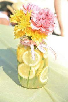 Pink Lemonade Birthday Party Ideas!  See more party ideas at CatchMyParty.com!