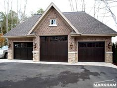 Dark Mahogany Garage Doors