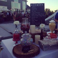 Candy bar // wedding decor