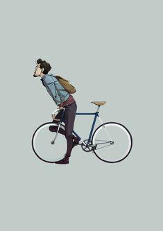 Bike riding illustration 52 Ideas for 2019 Fixi Bike, Bicycle Art, Hipster Vintage, Velo Vintage, Bicycle Illustration, Illustration Art, Bici Retro, Whatsapp Logo, Bike Sketch