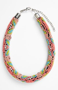 Topshop+Beaded+Collar+Necklace+available+at+#Nordstrom