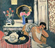 Acheter Tableau 'femme lecture' de Henri Matisse - Achat d'une reproduction sur toile peinte à la main , Reproduction peinture, copie de tableau, reproduction d'oeuvres d'art sur toile