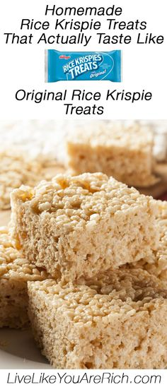 Homemade Rice Krispie Treats That Actually Taste Like Original Rice Krispie Treats #LiveLikeYouAreRich
