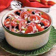 Greek Tomato Salad  Vinegar makes everything better!