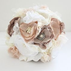 This is a cute bouquet. I would rather use real flowers for the wedding party, but this sort of flowers around the wedding used as decor would be very adorable! :)