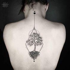 【纹身】今日纹身特辑:结合数学和艺术计算出的几何图形纹身设计——OKAN UÇKUN纹身作品。