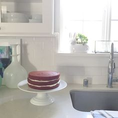 """""""Three cheers for baking my first three layer Red Velvet cake for my sons birthday!! Gotta say, it looks so pretty. Next up crumb coating, then more making more frosting! #mommyhood #redvelvetcake #threecheers #scratchbaking #cookingwithlove #musing #clhkitchen #birthdaycake"""" Photo taken by @mrsclh on Instagram, pinned via the InstaPin iOS App! http://www.instapinapp.com (06/27/2015)"""