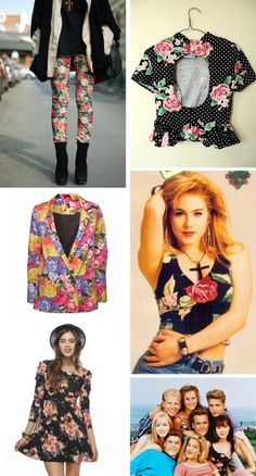 floral print...i had too much of this, in my closet, back then.