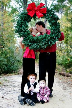 Fun photo prop for our family Christmas card