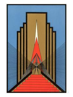 Geometric Art Deco Impressão artística