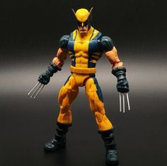 Wolverine Action Figure Marvel Legends Yellow Classic Suit X Men Universe Series //Price: $25.71 & FREE Shipping //     #civilwar