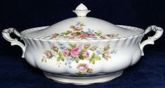 Vintage ROYAL ALBERT Moss Rose Tureen / by PrettyVintageHome