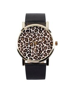 Leopard Retro Watch - Nly Accessories - Black - Watches - Accessories - Women - Nelly.com