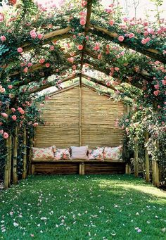 You might merely create your fantasy patio with related pergola plans. Backyard trellises might come in assorted shapes and designs. There are a number of pergola plans that may in all probability be constructed with a low budget. Pergola Garden, Pergola Canopy, Backyard Garden Design, Cheap Pergola, Wooden Pergola, Outdoor Pergola, Small Backyard Landscaping, Backyard Pergola, Pergola Plans