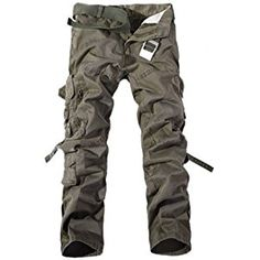Keybur Men's Cotton Casual Military Army Cargo Camo Combat Work Pants