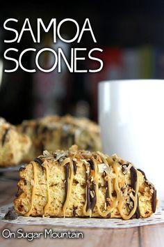 Samoa Scones - On Sugar Mountain