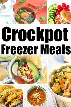 Crockpot Freezer Meals for Back to School Make busy weeknights run smoothly with these make-ahead Crockpot Freezer Meals. These delicious slow cooker recipes can be prepped ahead of time and go from freezer to Crock-Pot, making dinner stress free! Slow Cooker Beef Tacos, Slow Cooker Mexican Chicken, Slow Cooker Lasagna, Slow Cooker Apples, Slow Cooker Recipes, Crockpot Recipes, Vegan Recipes, Recipes With Chicken And Peppers, Chicken Drumstick Recipes