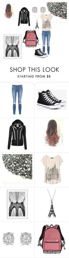 """""""Alexandra Barclay 6"""" by the-red-raven on Polyvore featuring Frame Denim, Converse, Banana Republic, Bling Jewelry, Effy Jewelry and Victoria's Secret"""