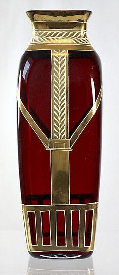 Art Nouveau vase made by Josef Riedel c. 1905