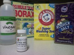 Homemade Dishwasher Detergent [Soap] and Rinse Agent