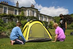 Camping on the lawn. Rent our house and camp out or chill out inside. www.halecat.co.uk