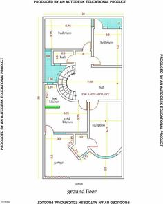 Four Bedroom House Plans, 3d House Plans, Indian House Plans, Duplex House Plans, Modern House Plans, Small House Plans, World Beautiful House, 5 Marla House Plan, Residential Building Plan