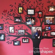 Family Tree Wall Decal by Simple Shapes  Large Tree Decal  Wall Decor  Wall Decals & Murals  Bla Family Tree Decal, Tree Decals, Family Wall, Family Tree With Pictures, Family Tree Photo, Oak Tree Tattoo, Tree Wallpaper, Simple Shapes, Decoration
