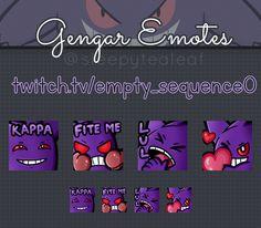 Gengar Emotes Gengar Twitch Graphic