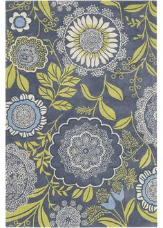 *drool* I love this Amy Butler wool rug in Lacework Blue, but no way can I afford the 2,000 dollar price tag for the large size.