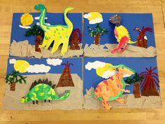 Dinosaur Collage/Elementary Art(art teacher: v. giannetto)