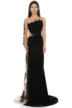 Long Black Evening Dress, Transparent Dress, Strapless Dress Formal, Formal Dresses, Luxury Dress, Designer Gowns, Wool Dress, Festival Outfits, Black Wool
