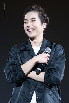 Xiumin - 150531 Exoplanet - The EXO'luXion in ShanghaiCredit: Bitter Sweet. Exo Luxion, Kim Min Seok, Exo Xiumin, K Idol, Look Younger, My One And Only, Armin, Guilty Pleasure, Bitter