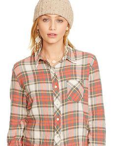 Plaid Stia Tomboy Shirt - Shop All Apparel - Ralph Lauren France