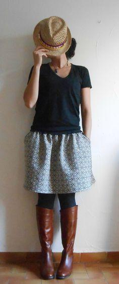 Tuto de la jupe à poches passepoilées par l'atelierclan