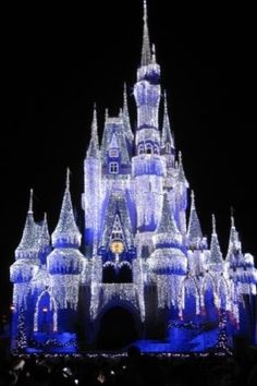 Christmas IPhone Wallpaper Castle In Orlando FL Tjn Disney Vacations Trips