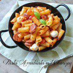 Pasta Arrabiata mit Chorizo Rezept