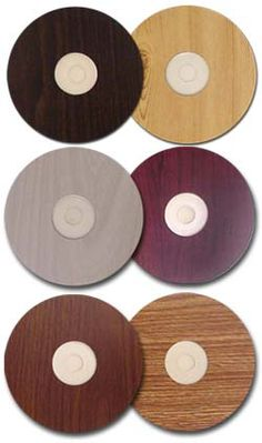 Wood CD labels