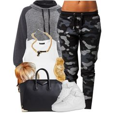 A fashion look from January 2014 featuring mbyM hoodies, Topshop tops and Zoe Karssen activewear pants. Browse and shop related looks.