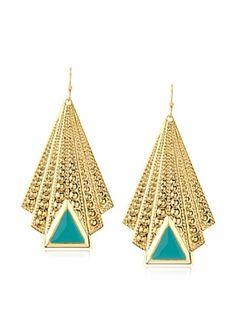 55% OFF a.v. max Enamel Deco Drop Earrings