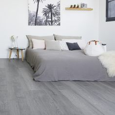 [New] The 10 Best Home Decor (with Pictures) - Create a cosy and natural atmosphere in your bedroom thanks to Gerflor solutions! Grey Laminate Flooring, Grey Wood Floors, Engineered Wood Floors, Vinyl Flooring, Living Room Flooring, Bedroom Flooring, Bedroom Wall, Bedroom Decor, Home Interior